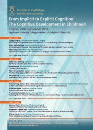 From Implicit to Explicit Cognition. The Cognitive Development in Childhood